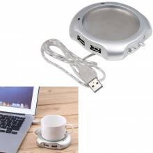 Scalda tazza con cavo USB hub 4 porte multipresa scaldatazza ufficio portatile