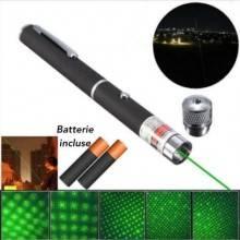 Puntatore laser verde con ghiera e clip raggi astronomico batterie incluse