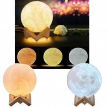 Lampada a forma di Luna 3D luce lunare colori vari touch illuminazione cavo usb