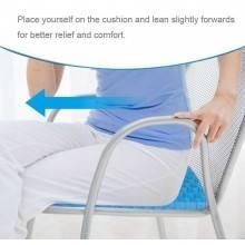 Cuscino gel nido d'ape sedia ufficio casa relax sostegno postura corretta flex