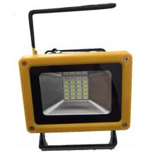 Faro Faretto 24 LED portatile impermeabile e ricaricabile con 2 modalità di luminosità e funzione emergenza rosso-blu