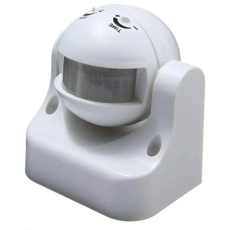 Sensore ad infrarossi di movimento angolo azione 180 gradi crepuscolare 12 metri