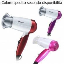 Asciugacapelli da viaggio phon portatile 1200W asciuga capelli pieghevole sk3903
