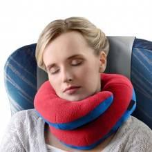 cuscino viaggio riposo travel pillow relax collare collo auto treno aereo casa