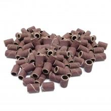 100 pz - Cilindrini abrasivi, scovolini per fresa ricostruzione unghie. Grana grossa (80 grit)