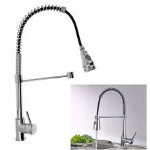 Rubinetto miscelatore lavello cucina lavabo casa tubo flessibile grigio 8101