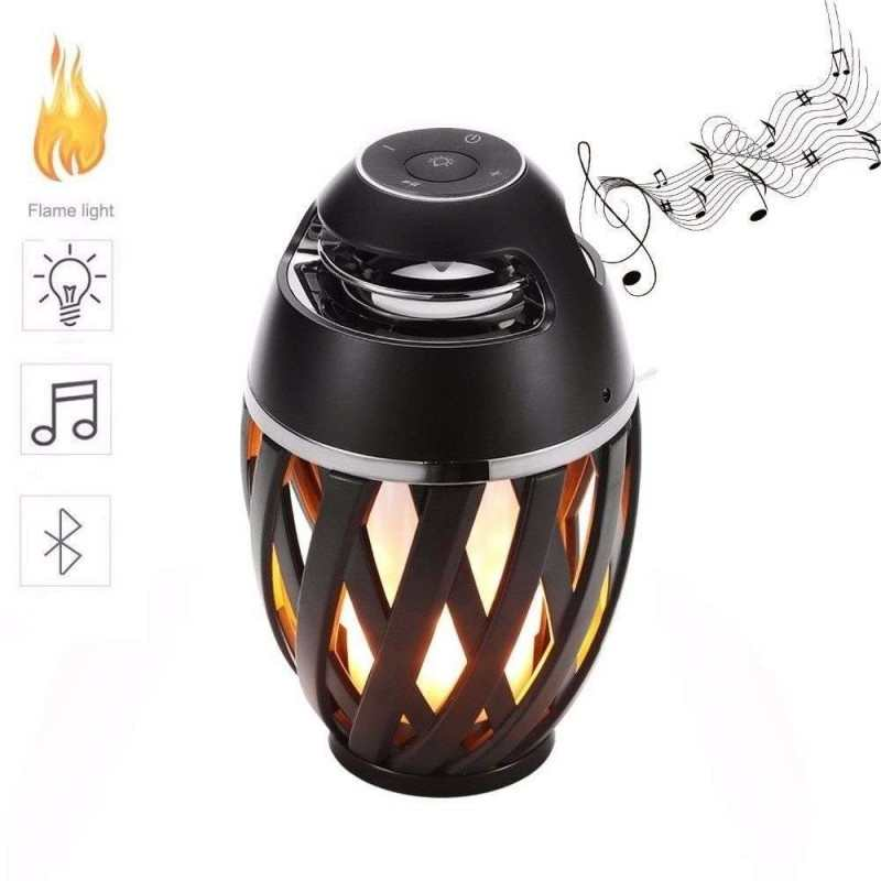 Cassa portatile smartphone speaker lettore musicale luce fiamma relax Bluetooth