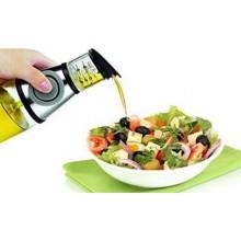 Dispenser dosatore olio e aceto a pressione oliera 500 ml tappo salvagoccia.