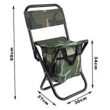 Sedia portatile pieghevole da campeggio pesca caccia o camping sgabello di facile trasporto - Colore Mimetico