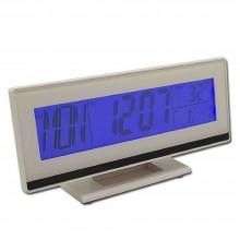 Orologio da tavolo display LCD sveglia DS3618 ora temperatura parlante anziani