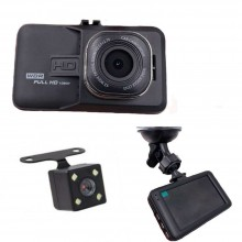 Videocamera con mini camera registratore video monitor HD anteriore posteriore