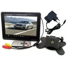 Videocamera con mini camera registratore video monitor HD anteriore posteriore