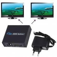 Splitter sdoppiatore HDMI 1.4 alta risoluzione 3D 2 uscite TV DVD televisore