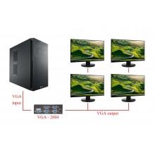 Splitter sdoppiatore VGA 200MHz 4 porte PC monitor duplicazione segnale video