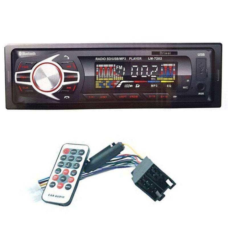DRIWEI Stereo BLUETOOTH auto autoradio FM USB AUX SD card MP3 display LM-8201