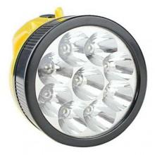 Torcia 9 LED ricaricabile da lavoro lampada garage bricolage 710-A luce torce