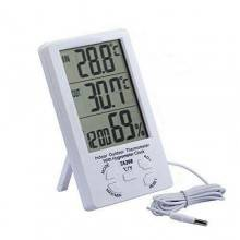 Termometro misurazione umidità igrometro digitale sonda temperatura ambiente stazione meteo