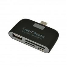 Lettore memory card reader micro USB adattatore ingresso USB schede di memoria