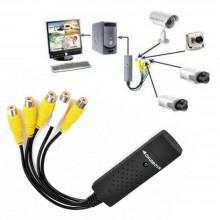 Easycap scheda aquisizione canale 4 video 1 audio telecamere TV RCA adapter