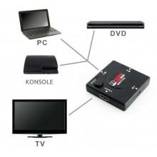 Sdoppiatore HDMI 1.3b TV switch 1080p presa multipla HUB 3 porte adattatore