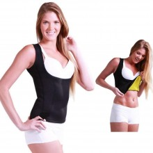 CANOTTA SAUNA DA DONNA FITNESS SNELLENTE DIMAGRANTE HOT EFFETTO SAUNA SHAPERS IN NEOPRENE ANALLERGICO SILHOUETTE
