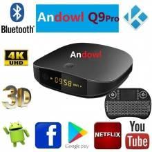 Smart tv box Android 4 GB ram 32GB rom wifi andowl IPTV 4K HD telecomando Q9 pro