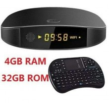 Smart tv box Android 4 GB ram 32GB rom wifi andowl IPTV 4K HD telecomando Q9 pro