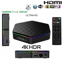 Smart TV box Android IPTV 3 GB ram 32GB rom wifi telecomando andowl 4K HDR Q5