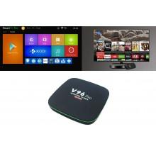 Smart TV box Android 4GB ram 32GB rom wifi telecomando 4K HD cavo HDMI H96 pro