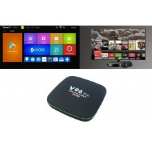 Smart TV box Android 4GB ram 32GB rom wifi telecomando 4K HD cavo HDMI H96 pro