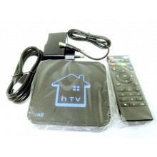 Smart TV box Android 2GB ram 16GB rom wifi telecomando HDMI IPTV RCA hTV A8