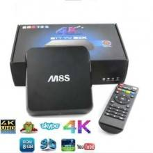 Smart TV box Android 7.1 1GB ram 16 GB rom wifi 4K HD telecomando iptv M8S