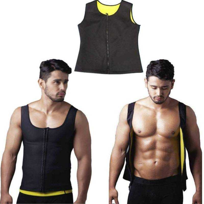 CANOTTA SAUNA FITNESS SNELLENTE DIMAGRANTE HOT EFFETTO SAUNA SHAPERS IN NEOPRENE ANALLERGICO CON CHIUSURA A ZIP