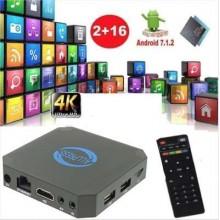 Smart TV box Android 7.1 2GB ram 16GB rom wifi 4K HD telecomando iptv X96 mini