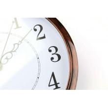 Orologio Da Parete Tondo effetto legno Quarzo Muro 30cm di Diametro Breaker821