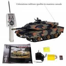 Carro armato militare radiocomandato rc torretta spara davvero professionale