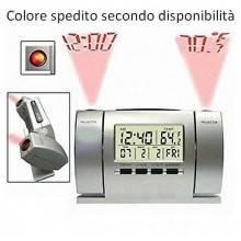 Sveglia orologio doppia proiezione ora gradi proiettore led LCD temperatura casa