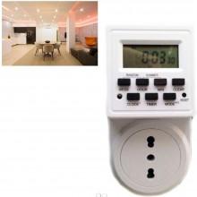 Timer digitale presa elettrica programmabile 230V corrente casa controllo luci