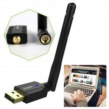 Chiavetta USB adattatore Antenna ricevitore segnale wireless WIFI 300Mbps dongle