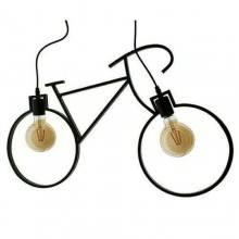 Lampada soffitto 2 luci LED E27 Vintage Bicycle salotto plafoniera sospensione