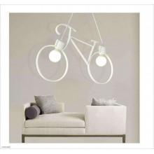 Lampada Vintage Bicycle soffitto 2 luci LED E27 plafoniera sospensione salotto