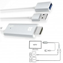 Cavo HDTV adattatore video smartphone connettore Android Lightning HDMI USB