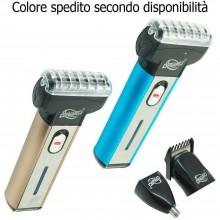 Rasoio 3 in 1 testina regola barba capelli peluria viso uomo 3 testine DW-007