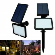Faretto LED picchetto giardino parete luce Fredda pannello solare faro esterno