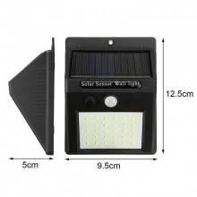 Faretto 25 LED sensore movimento esterno giardino fotovoltaico lampada solare