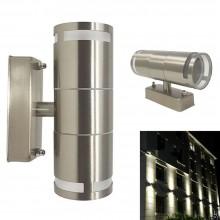 Plafoniera esterno interno doppia luce Applique grigio muro impermeabile 901