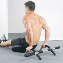 Barra per trazioni da porta multi funzione fitness pull up con impugnature antiscivolo ottima per allenamento muscolare