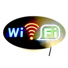 NEW Insegna luminosa pubblicitaria a LED con logo wifi lampeggiante WI FI ovale