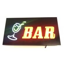 NEW Insegna luminosa pubblicitaria LED logo RISTORANTE con posate lampeggianti