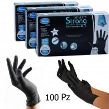 100 guanti in nitrile senza polvere uso professionale alimentare tatuaggi AQL1.5